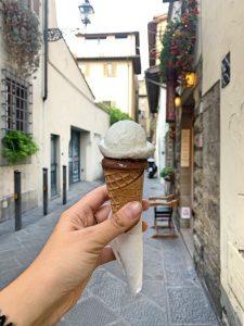 Un rico helado de la Gelateria della Passera, en Florencia