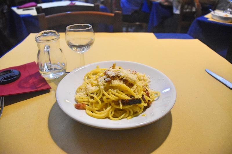 Dónde comer en Roma: pasta a la carbonara de 'La Vecchia Roma'