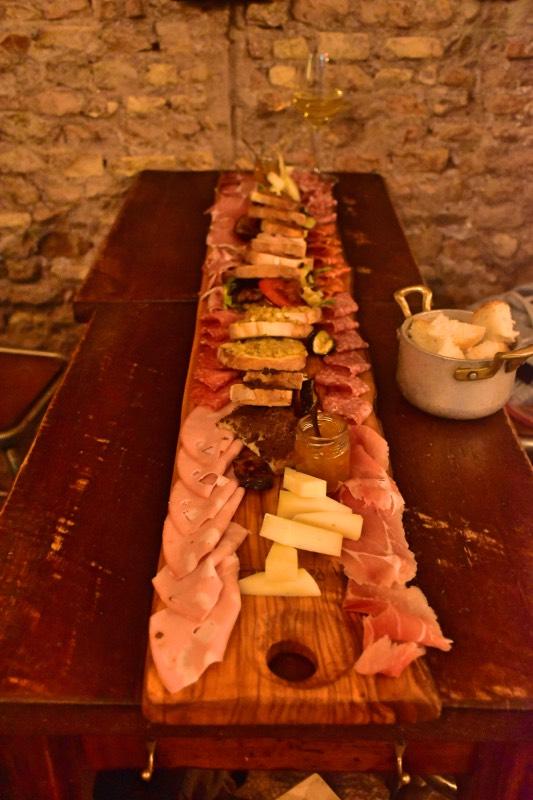 Dónde comer en Roma: tabla de embutidos de 'Pane e Salame'