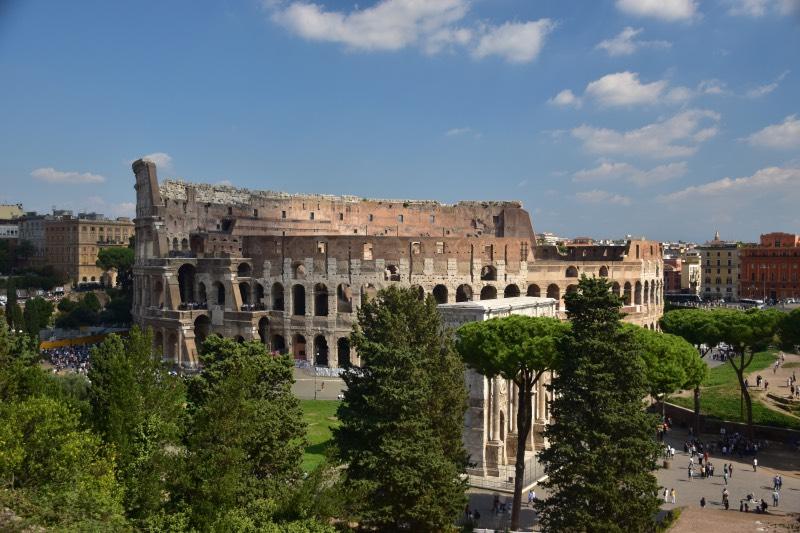 El Coliseo Romano desde el Foro