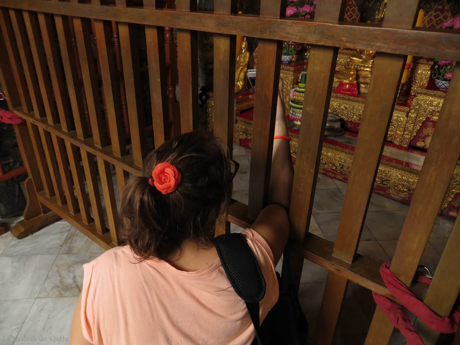 Buscando la mejor perspectiva del Buda reclinado del Wat Pho