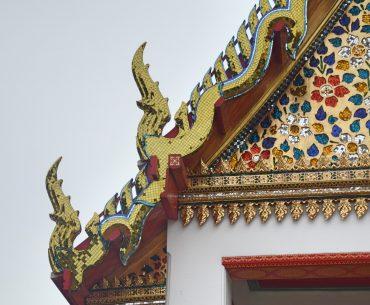 Detalles de uno de los edificios del Wat Pho