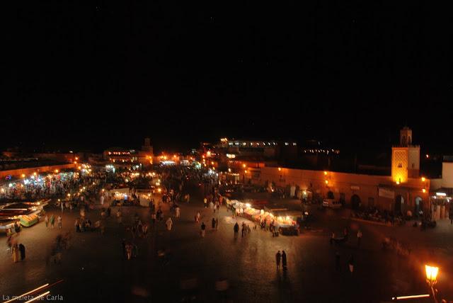 Qué hacer en Marrakech: plaza Jemaa el Fna