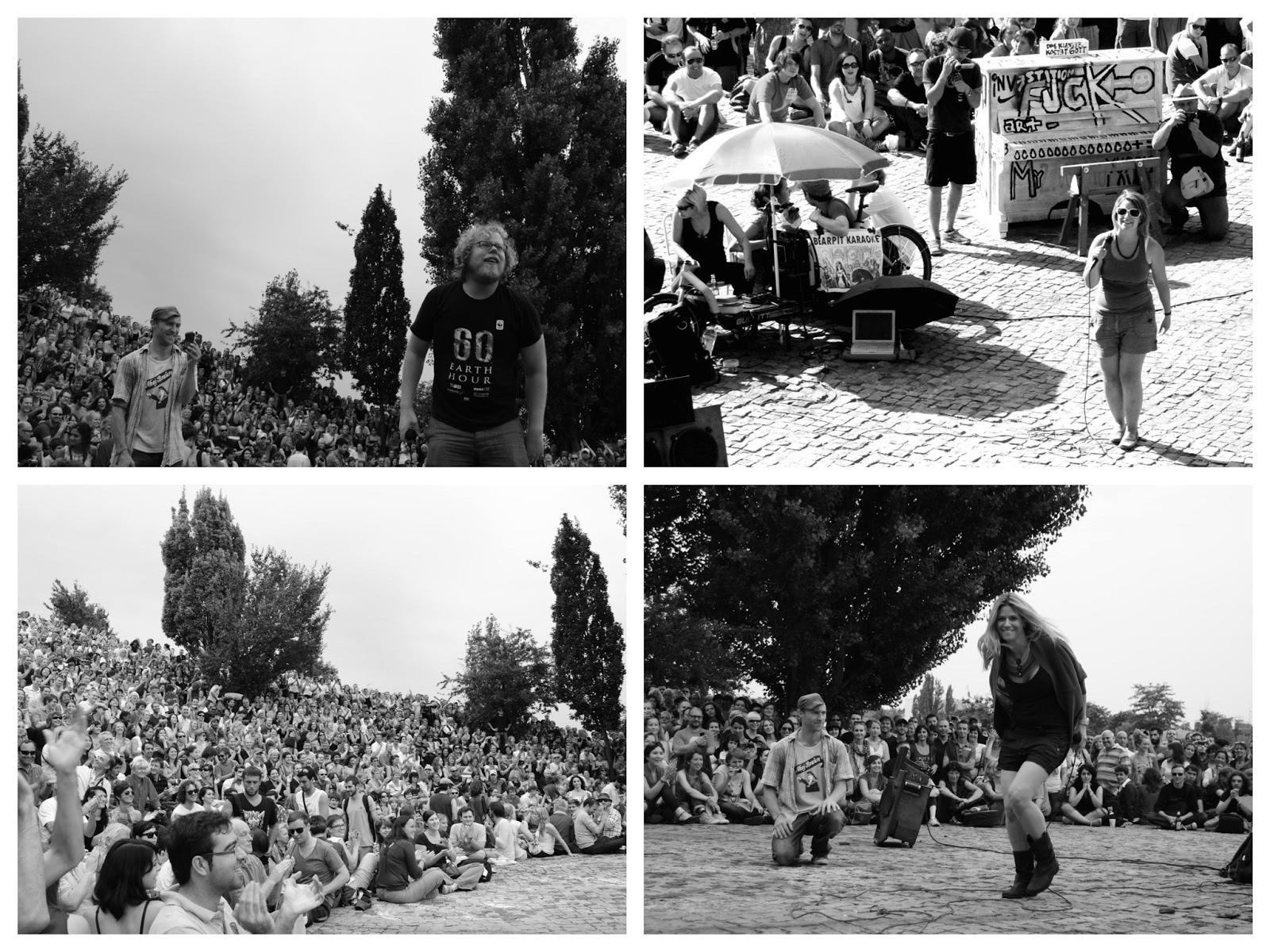 Diferentes actuaciones en el Karaoke de Mauerpark