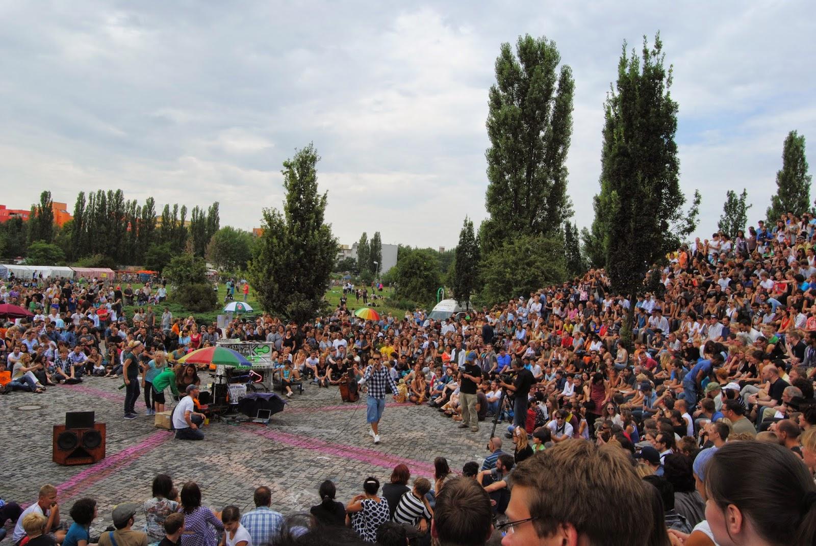 Karaoke de Mauerpark en Berlín