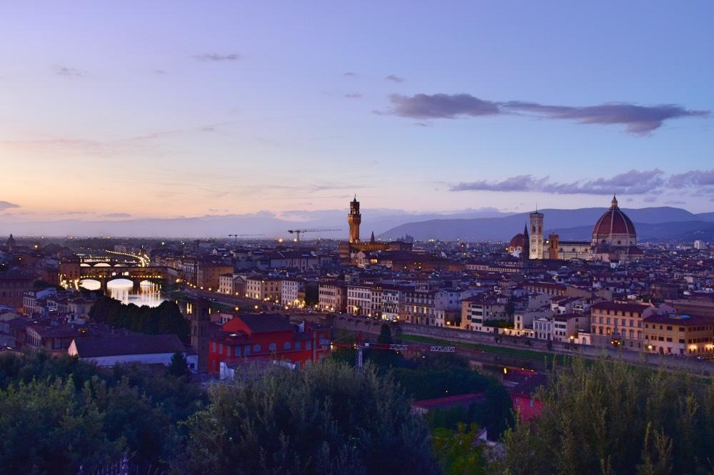 Atardecer desde Piazzale Michelangelo