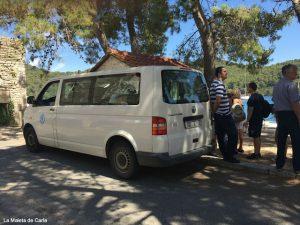 Parque Nacional de Mljet: transporte en la isla
