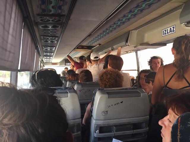 El autobús que va hasta el Parque Nacional de Krka