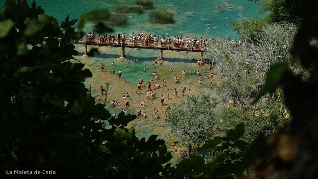 En verano el Parque Nacional de Krka se llena hasta los topes.