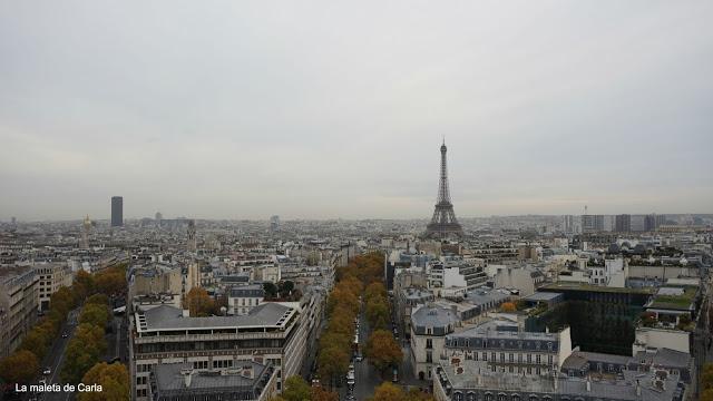 Las mejores vistas de París - La Torre Eiffel desde el Arco del Triunfo