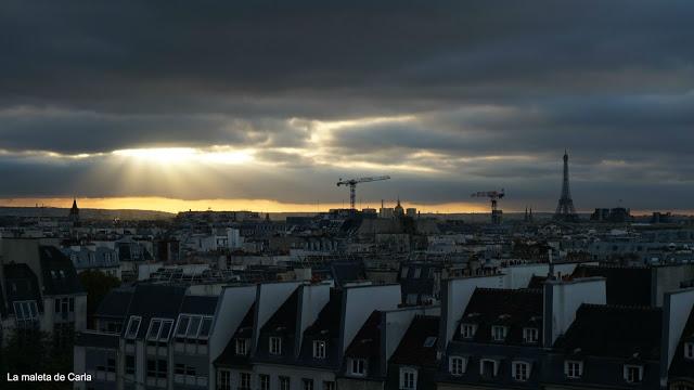 Las mejores vistas de París - La Torre Eiffel desde el Centro Pompidou
