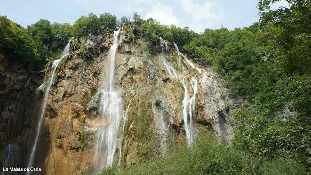 Las cascadas del Parque Nacional de los Lagos de Plitvice