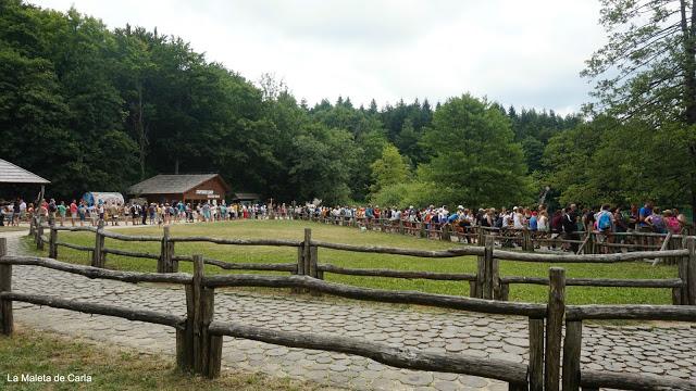 colas en julio en el Parque Nacional de los Lagos de Plitvice