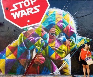 Presupuesto para viajar a Florida: Graffiti de Yoda en Wynwood Walls