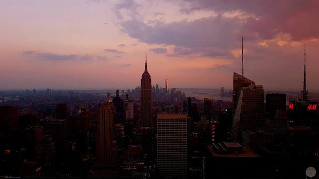 Guía para conocer Midtown Manhattan: puesta de sol desde el Top of the Rock