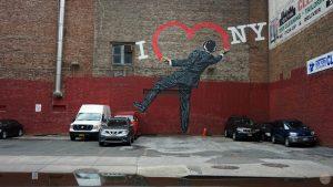 Qué ver en Hell's Kitchen, Chelsea y el Meatpacking District: Grafiti 'I love NY'