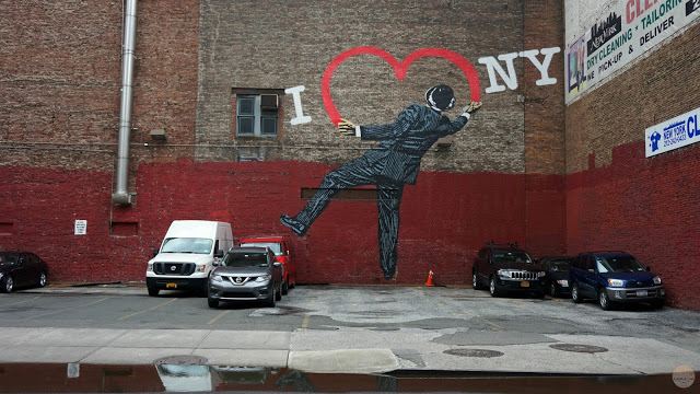 Qué ver en Hell's Kitchen, Chelsea y el Meatpacking District: Grafiti 'I love NY'
