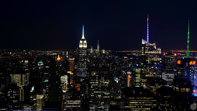 Vistas desde el Top of the Rock de noche