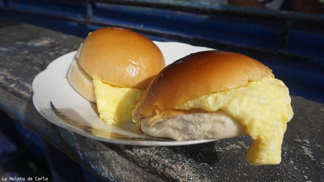 Presupuesto para viajar a Cuba: bocadito de tortilla