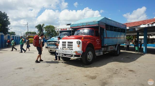 preparar un viaje por Cuba - estación de camiones