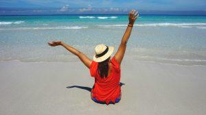 Carla en la playa de Varadero