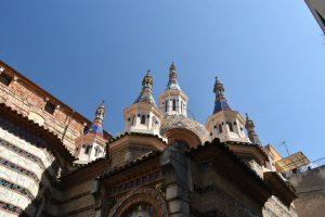 Qué hacer en Lloret de Mar: colorida cúpula de la Parroquia de Sant Romà
