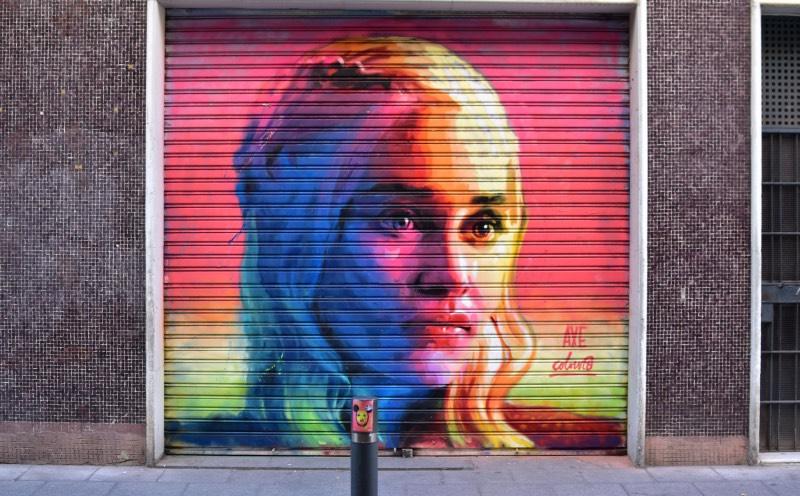 Ruta de AXE Colours en el Barrio de Gracia: Daenerys Targaryen
