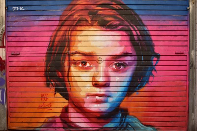 Ruta de AXE Colours en el Barrio de Gracia: Arya Stark