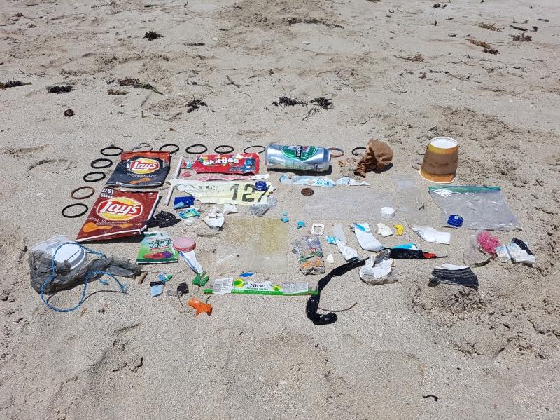 basura recogida en Miami Beach