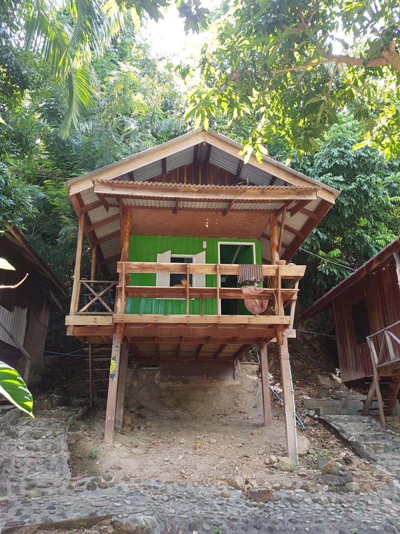 Nuestro bungalow frente al mar