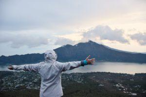 En la cima del Monte Batur