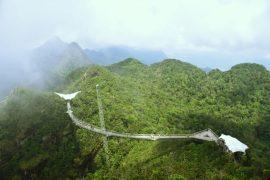 Vistas a la montaña desde la cima del Machincang
