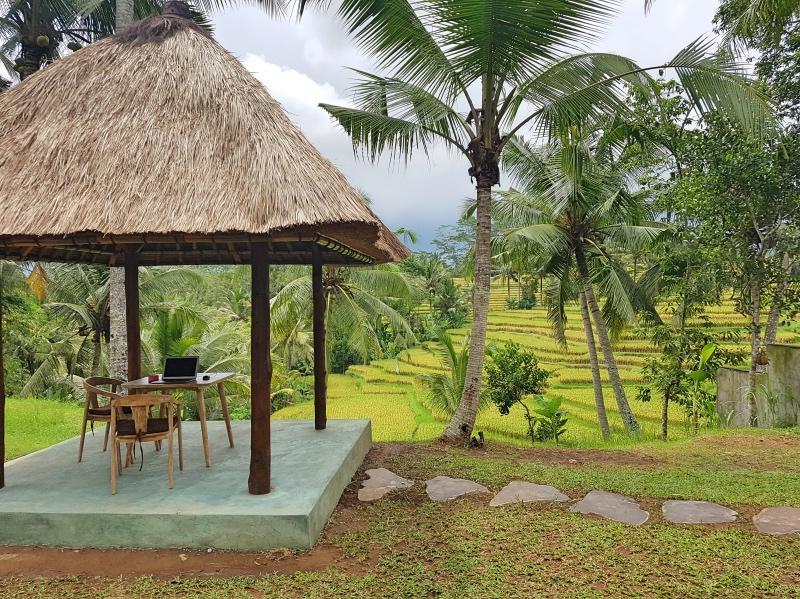 Dónde dormir Bali: casa con vistas a las terrazas de arroz