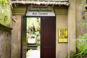 La entrada al IHF Bali