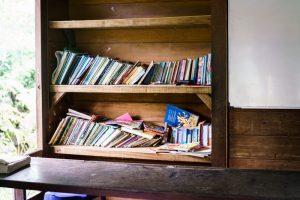 trip-drop en Bali: la librería