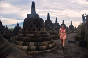 Seguro de viajes para Indonesia: Borobudur al amanecer