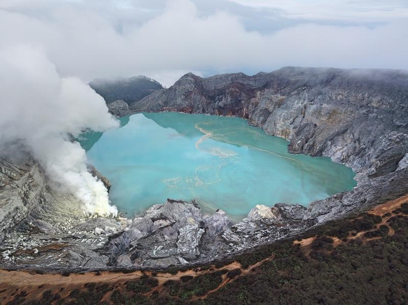 Seguro de viajes para Indonesia: volcán Ijen