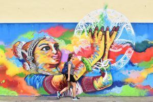 Tour de graffitis en Little India, Singapur