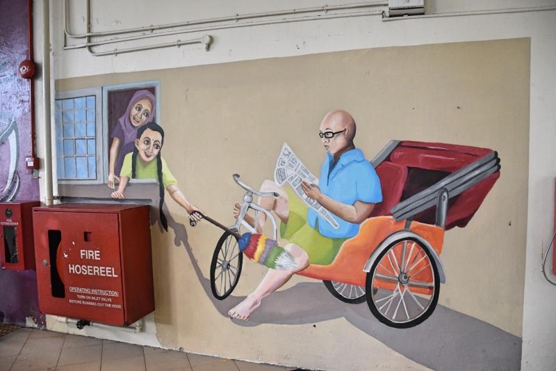 Graffitis alrededor del Tekka Center