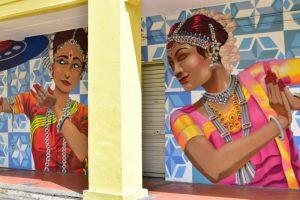 Graffitis en Little India