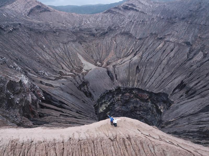 Parque Nacional del Bromo: el volcán Bromo desde arriba