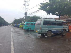 Cómo ir al Bromo: estación de furgonetas en Probolinggo
