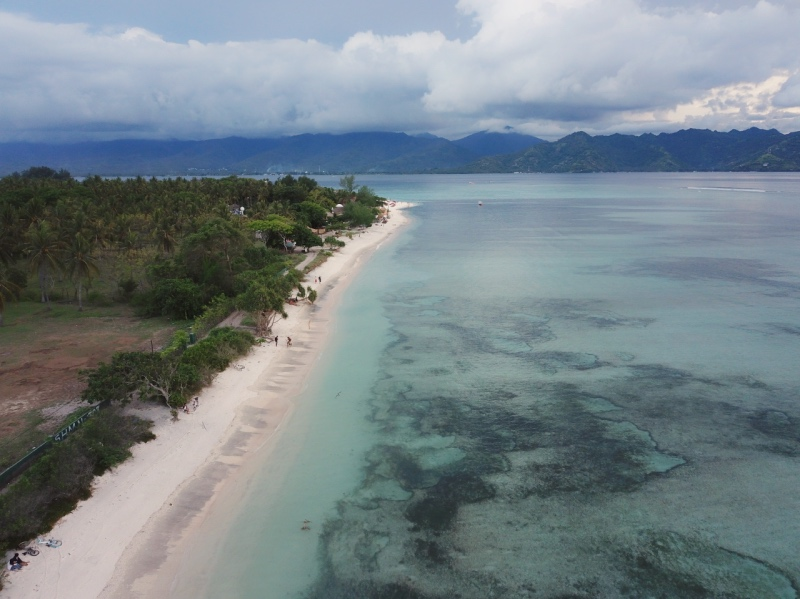 Qué hacer en Gili Air: ir a la playa