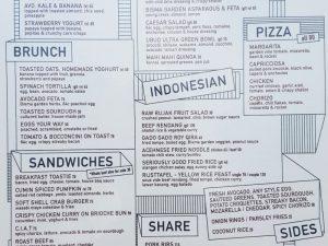 presupuesto viajar indonesia carta restaurante extranjero