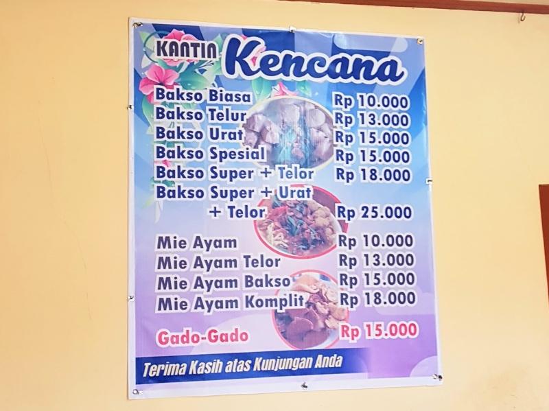 presupuesto viajar indonesia carta restaurante local
