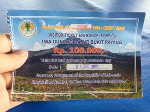 presupuesto viajar indonesia entrada Batur