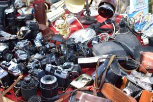 Cosas que hacer en Berlín: cámaras antiguas en el mercadillo de segunda mano de Mauerpark