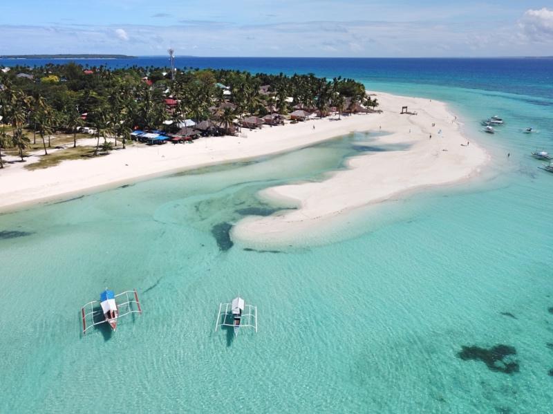 Preparativos para un viaje a Filipinas: lengua de arena en Bantayán