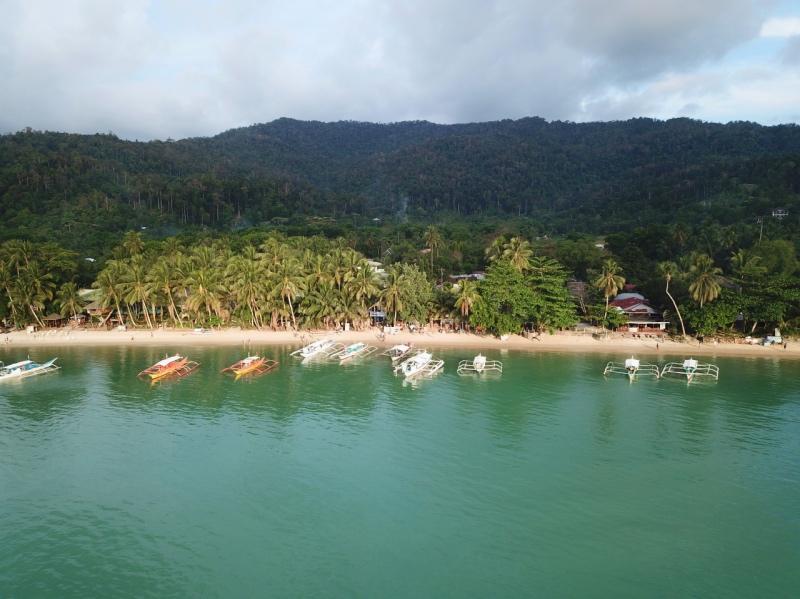 itinerario para un viaje de 20 días por Filipinas: Port Barton desde el aire