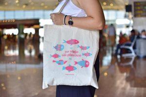 Bolsa 'yo viajo sin plástico'